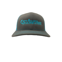 Castaway Logo'D Richardson Hat - Charcoal/Blue