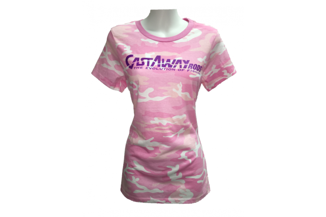 Women'S Pink Camo Short Sleeve