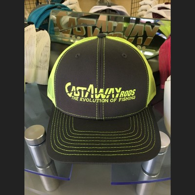 Castaway Logo'd Hat - Gray/Yellow