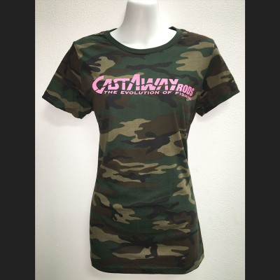 Women's Green Camo Short Sleeve